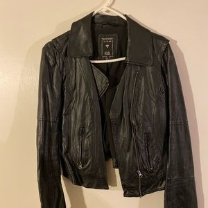 Vintage guess leather biker jacket